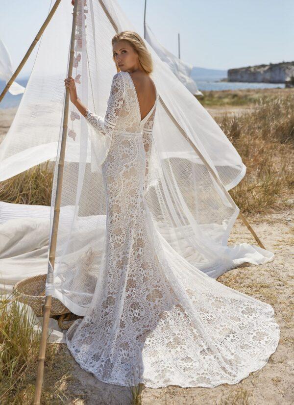 Bruidsjurk Herva Paris Vanves bohemian stijl