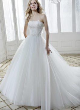 strapless prinsessen trouwjurk