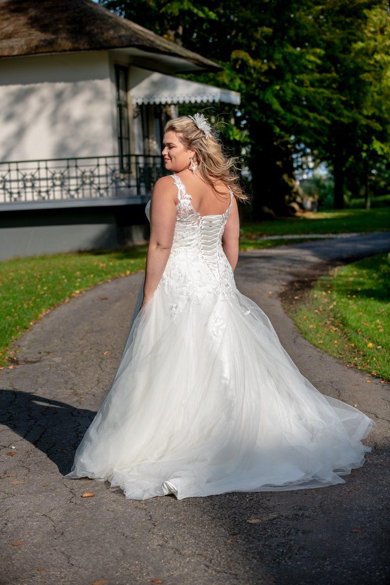 Bruidsjurk Bridal Star Getty met sleepje
