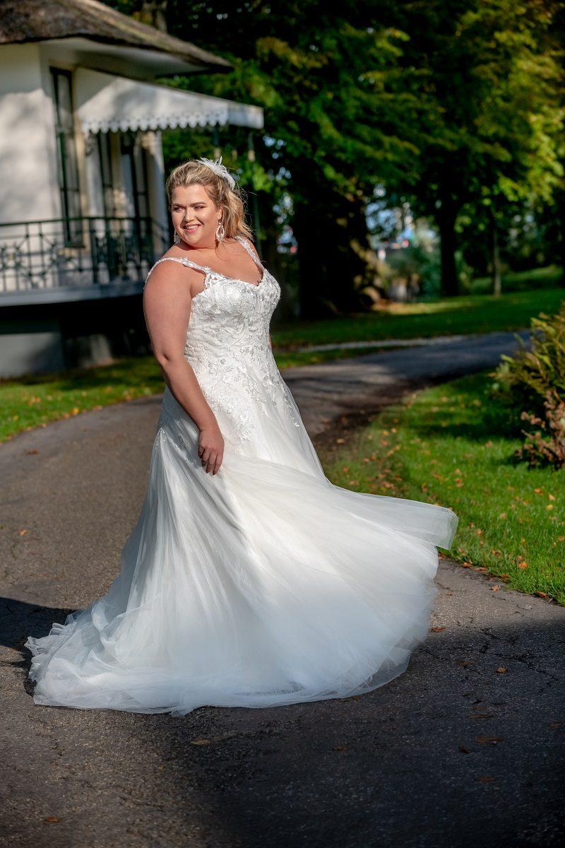 Bruidsjurk Bridal Star Getty met schouderbandjes