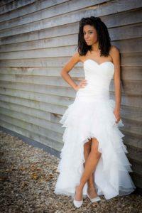kort-lang trouwjurk