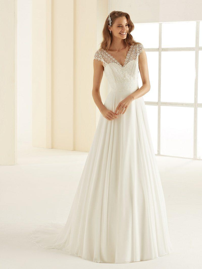 Bruidsjurk Bianco Evento Margaret bohemian stijl