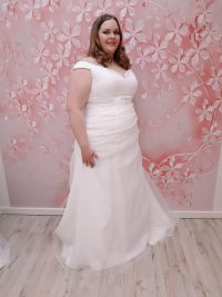 goedkope grote maat trouwjurk
